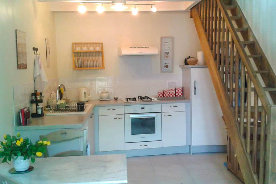Kitchen area at Garden Gite
